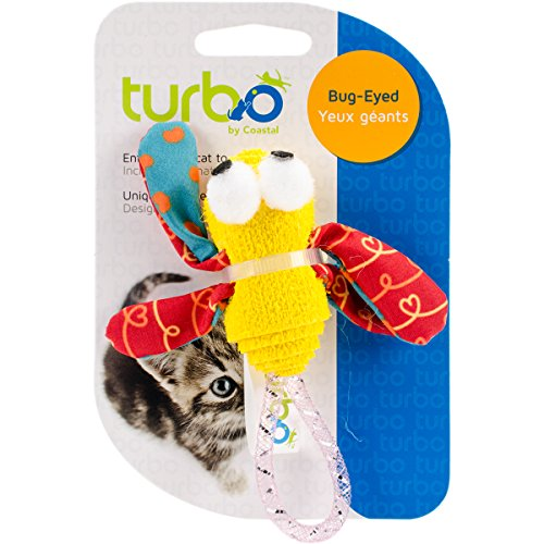 "Price comparison product image Coastal Pet Turbo Foam Fun Cat Toy-Dragonfly - 4"""