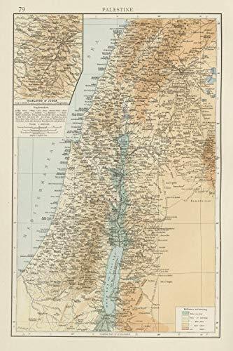 Amazon.com: Palestine. Judea Highlands. Ancient & Arabic Names. Holy ...