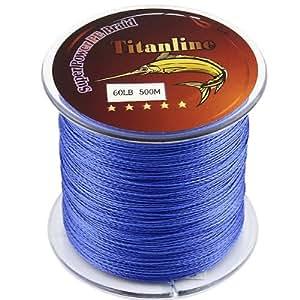 Titanline super high grade fiber pe briad for Amazon fishing line