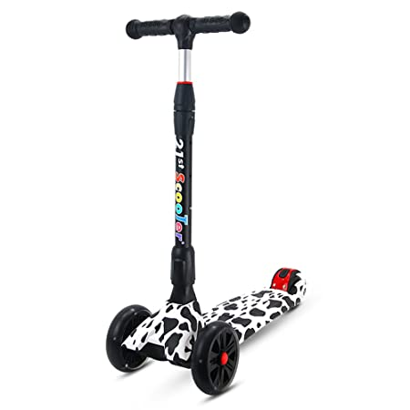 Rishx Scooter for niños Altura Ajustable Plegable rápido ...