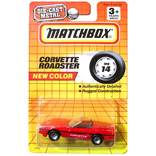 Matchbox 1993 Chevrolet Chevy Corvette Roadster Convertible in Red MB 14