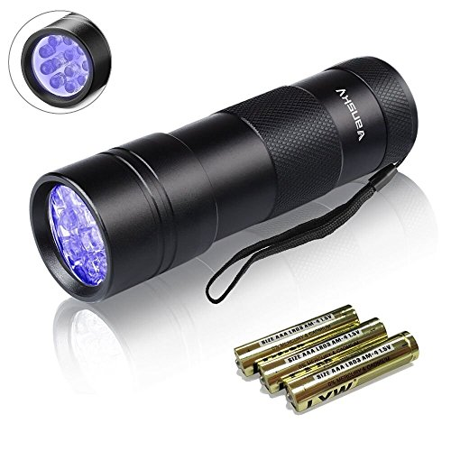 Vansky UV Flashlight Black Light,12 LED Ultraviolet Detector For Dog/Cat/Pet Urine & Dry Stains Detection On Carpets/Rugs/Floor