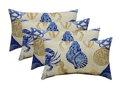 RSH Décor Set of 4 Indoor/Outdoor Lumbar Rectangular Throw Pillows (12