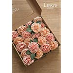 Lings-moment-Artificial-Flowers-Shimmer-Blush-Peach-Roses-25pcs-Real-Looking-Fake-Roses-wStem-for-DIY-Wedding-Bouquets-Centerpieces-Arrangements-Party-Baby-Shower-Home-Decorations