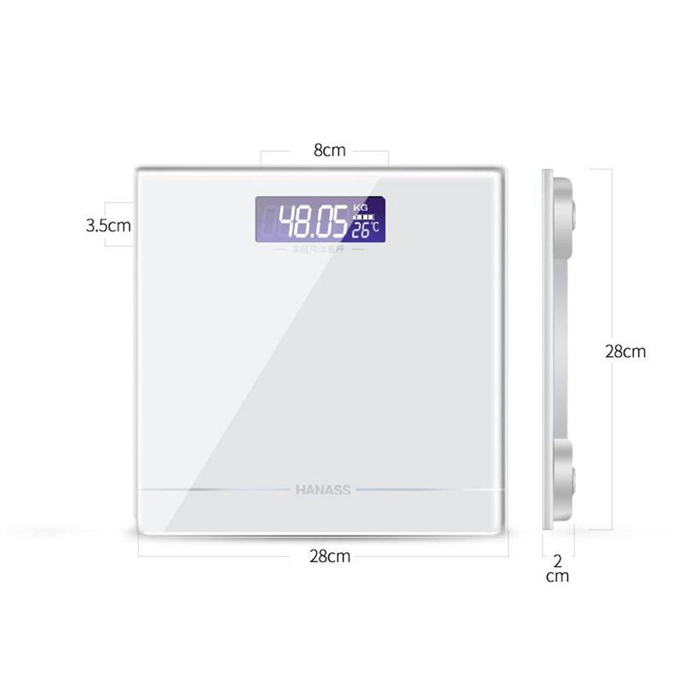 Mini pesaje electrónico escalas del hogar peso adulto balanzas de precisión escalas de salud Pérdida de Peso humano balanza de peso El Instrumento de grasa ...