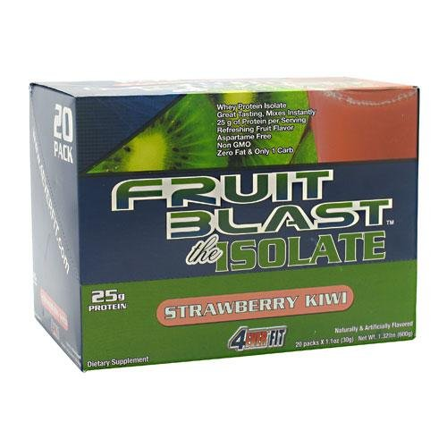 Explosion de fruits 4Ever Fit Isoler, Kiwi Strawberry, 20 - 1.1 oz paquets