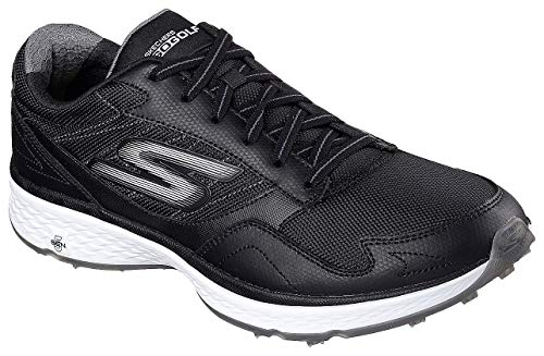 Skechers Golf Men's Go Golf Fairway Golf Shoe, Black/White, 9.5 M US (Best Looking Golf Shoes)