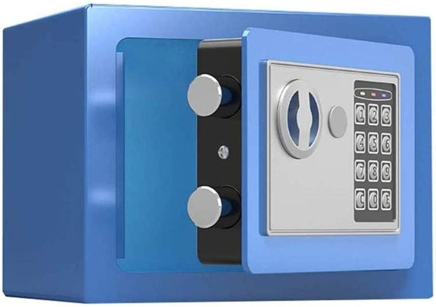 GGDJFN Caja Fuerte Caja Fuerte y Cerradura Cajas, Caja de Dinero, Cajas de Seguridad joyería Efectivo del Arma Caja for el hogar, Oficina, Caja Fuerte Digital - 22X17X17cm: Amazon.es: Hogar
