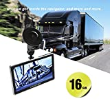 AZGIANT 7'' Inch HD LCD Truck Lorry 2 in 1 GPS NAV SAT Navigation System & Superior Dash Cam 1080P Driving Recorder Lifetime Free America Canada Maps Preloaded 16GB