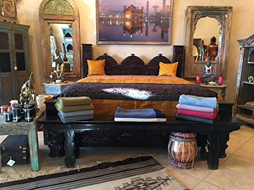 Jhulla Low Pillar Bed by Worldcraft Industries, Standard King