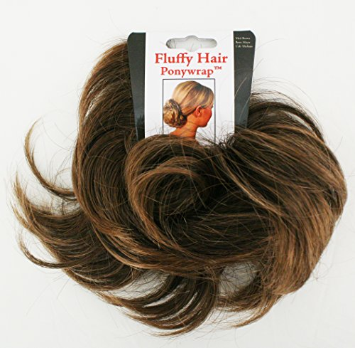 Mia Fluffy Hair Ponywrap-Ponytailer Made Of Synthetic/Faux Wig Hair On A Rubberband-Instant Hair/Instant Volume! Medium Brown Color-One Size Fits All! (1 per piece per (Meijers Halloween Costumes)
