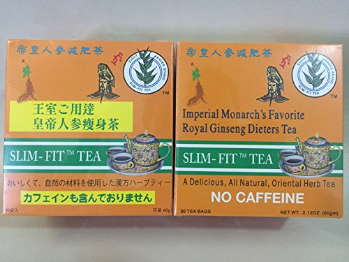 2 BOX OF Imperial Monarch's Favorite Royal Ginseng Dieters Tea by Eight Leaf 30 BAG EACH BOX -