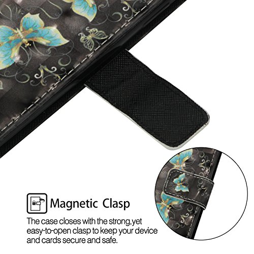 3d Brillant Housse Etui papillon Shiny Compatible Kaléidoscope Protection Galaxy Coque coque Edge Demi Morechioce Bookstyle Cuir Rabat Edge Flip En Bling Avec De S7 Magnétique 7nqUPPzx