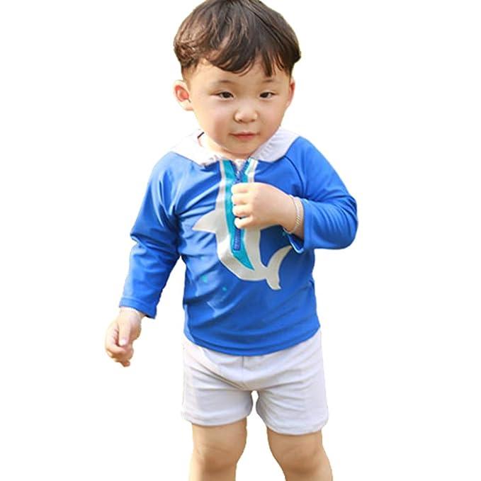 269f3c50b30 Amazon.com: Digirlsor Toddler Kids Boys Two Piece Swimsuit Cartoon Hoodie Rash  Guard Sun Protection Swimwear Bathing Suit, 0-8Y: Clothing