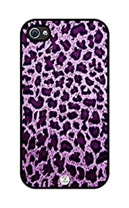 iZERCASE Cheetah Print Purple Pattern RUBBER iphone 4, iphone 4S case - Fits iphone 4/4S T-Mobile, AT&T, Verizon, Sprintand International