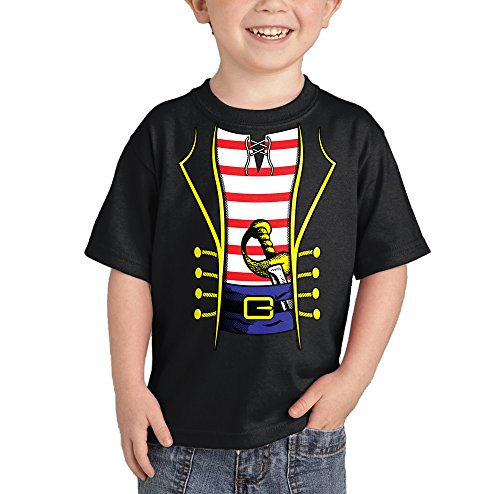 Toddler/Infant Pirate Costume T-shirt (3T, BLACK) (Toddler Crow Costume)