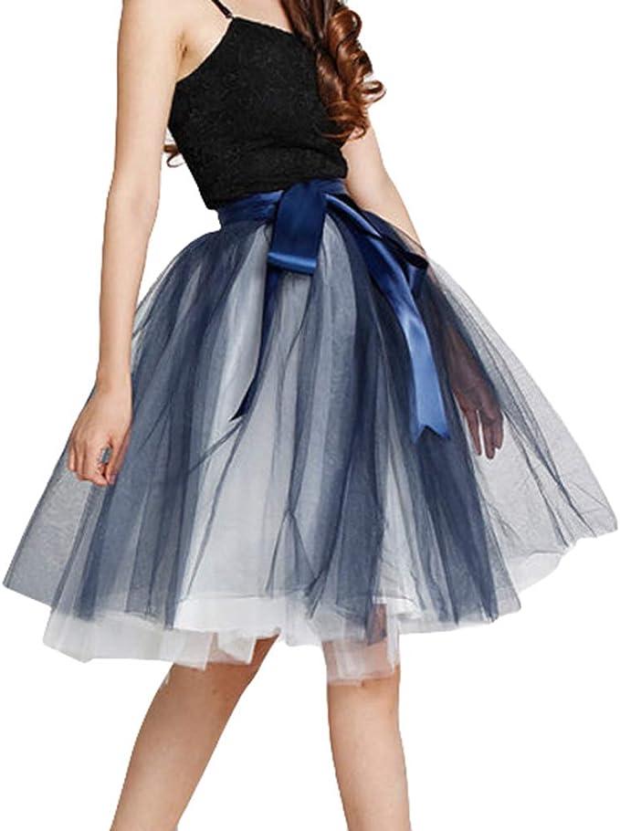 hibote Mujeres Niñas Midi Faldas Tul Princesa Ballet Enagua para ...