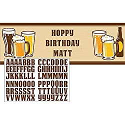 "60"" Cheers & Beers Birthday Party Giant Banner Decoration w/Stickers"