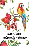 2020-2021 Planner Parrot: 5x8 inches - Two Year Monthly Calendar Planner | 24 Months Planner and Calendar | January 2020 to December 2021 Monthly ... | Agenda Planner and Schedule Organizer
