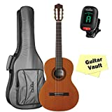 Cordoba Cadete 3/4 Size Classical Guitar with Cordoba 3/4 Size Deluxe Gig Bag ($50), Tuner, and Polishing Cloth