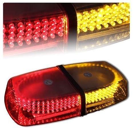 HEHEMM 24 LED car Emergency Hazard Warning Grill Strobe Light with Control Box Green