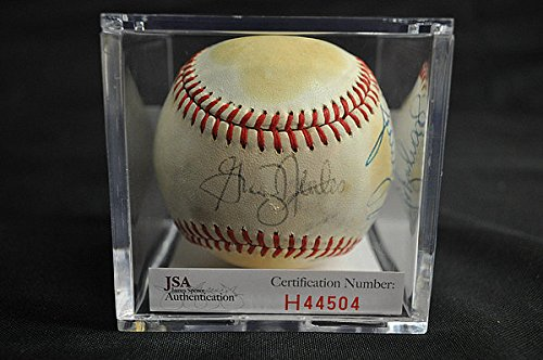 Graig Nettles With Sparky Lyle Autographed Signature Baseball Authentication #H44504 - Wh