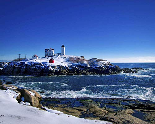 - Winter at the Nubble Lighthouse 2, York, Maine 10x8 Color Photograph