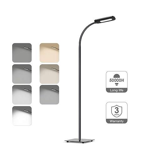 Lámpara de pie,luz de piso LED,lámpara de pie TECKIN de lectura Regulable para el dormitorio de la sala de estar, De control táctil de alta ...