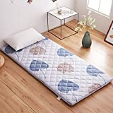 GJFLife Breathable Mattress Protector Topper Tatami, Collapsible Floor Sleeping pad Futon Single Double Hypoallergenic Bed Cushion Mats-A 150x200x4.5cm