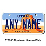 TEAMLOGO Personalized Utah License Plate - Sizes