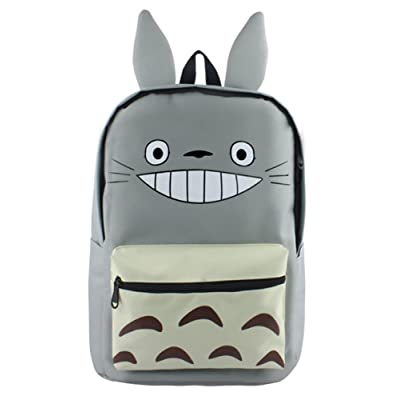 Gumstyle Anime My Neighbor Totoro Canvas Backpack with Ears Rucksack Schoolbag Shoulder Bag for Boys and Girls | Kids' Backpacks
