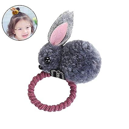 Beito 1pcs Conejo Orejas Pelo Bandas de Tie accesorios Japón Corea Style coleta soporte(Gris