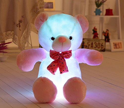 [AMFO New Hot LED Shinning Teddy Bear Stuffed Animals Plush Night Light Toy Colorful Gleamy Gift 20Inch] (Animals That Start With The Letter E)