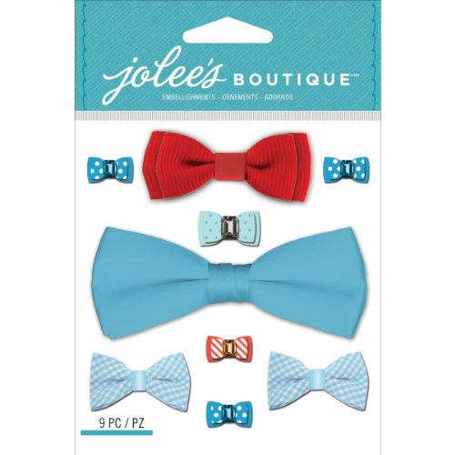 Jolee's Boutique Dimensional Stickers, Baby Boy Bow Ties