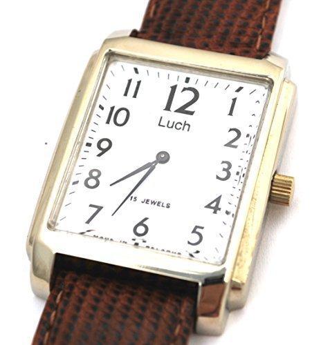 LUCH ruso de hombre 15 joyas Wind Up reloj de pulsera regalo