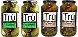 Tru Pickles 4 Piece Variety Pack, Original Dill/Smoked Black Pepper
