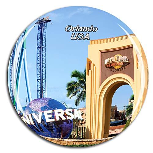 Weekino USA America Universal Studios Florida Orlando Fridge Magnet 3D Crystal Glass Tourist City Travel Souvenir Collection Gift Strong Refrigerator Sticker (Furniture Orlando City)