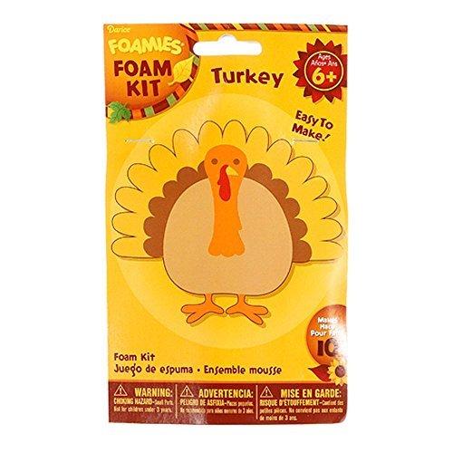 Foamies Foam Thanksgiving Turkey Crafting Kit -4'' - Supplies For (Thankful Turkey Craft)