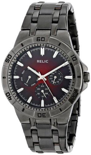 Relic by Fossil Men's Garrett Quartz Stainless Steel Sport Watch, Color: Gunmetal (Model: ZR15514)