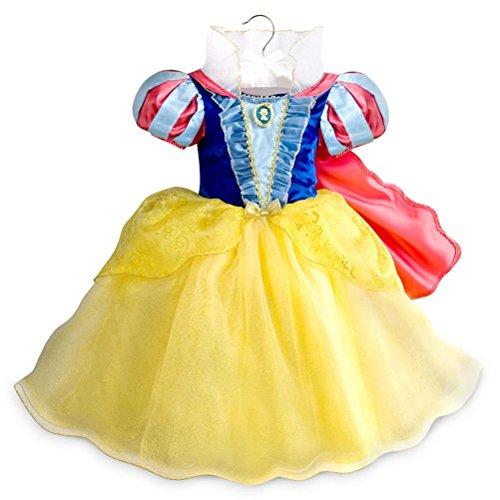 Disney Store Princess Snow White Little Girl Halloween Costume Dress Size 7/8 (White Dress Costume Halloween)