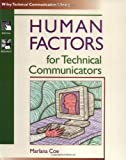 Human Factors for Technical Communicators, Marlana Coe, 0471035300