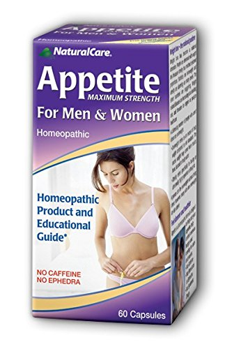 NaturalCare Homeopathic Maximum Appetite Suppressant for Men and Women, 60 Capsules (Best Natural Appetite Suppressant Herbs)