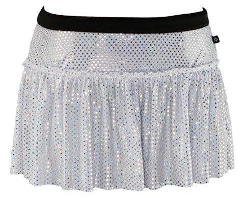 White Specialty Sparkle Running Skirt
