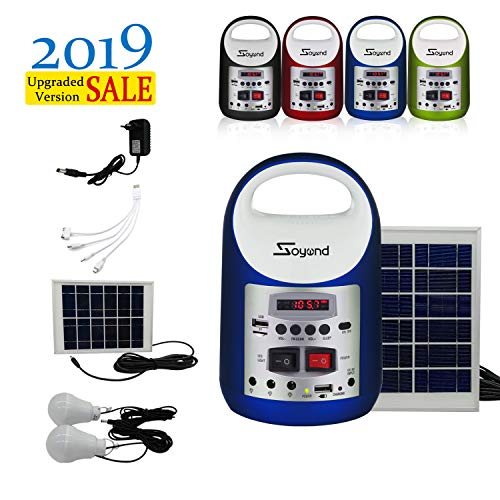 soyond Portable Solar Generator with Solar Panel Solar Powered Generator Inverter Small Basic...