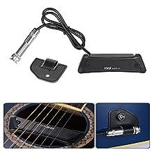 Andoer Passive Magnetic Soundhole Pickup Pick-up Single Coil for Folk Guitar