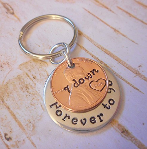 7-year-anniversary-2010-lucky-copper-penny-with-down-and-forever-to-go-coin-key-chain