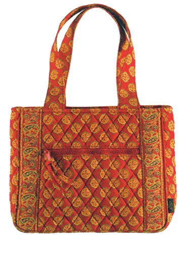 Ganz Maggi B French Country Red Mosaic Quilted Cotton Handbag - Fall 2007#MB02883