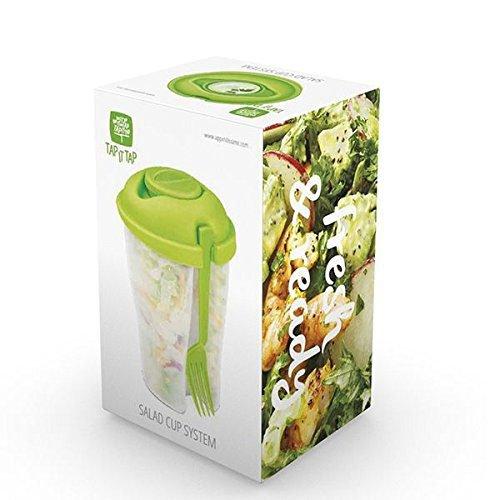 Fiambrera ideal para el trabajo. Ensalada no pierde sus propiedades. Incluye recipiente para salsas.Disfruta de ensaladas frescas y saludables.