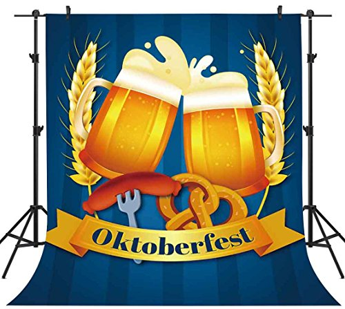 FHZON 5x7ft Wheat Beer Backdrops for Photography Oktoberfest Background Party YouTube Backdrops Photo Booth Props GYFH391