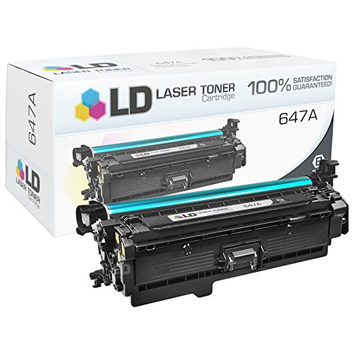 LD © Remanufactured Replacement for HP 647A / CE260A Black Toner Cartridge for Color LaserJet Enterprise CP4025dn, CP4025n, CP4525dn, CP4525n, CP4525xh
